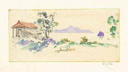 Frantisek KUPKA (1871-1957) Paysage de bord...
