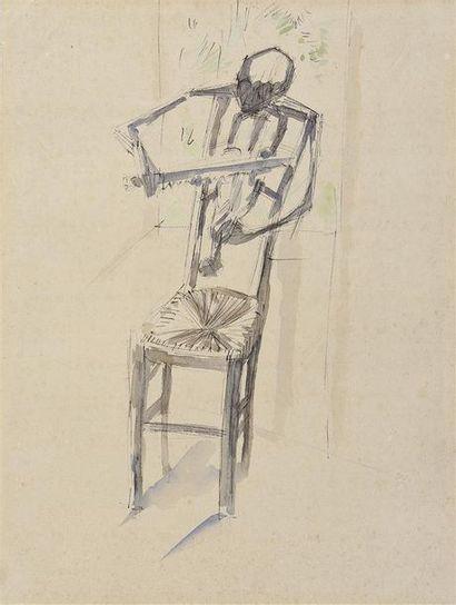 André MASSON (1896-1987) Chaise violoniste,...