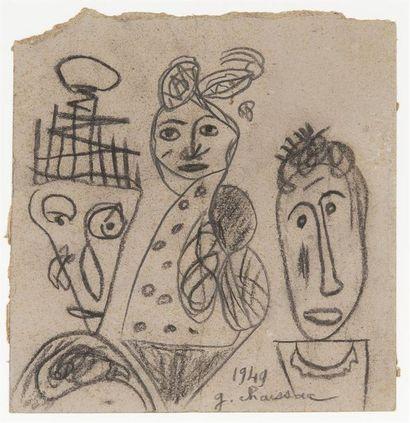 Gaston CHAISSAC (1910-1964) Composition avec...