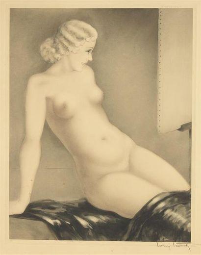Louis ICART (1888-1950) Modèle I (My Modèle),...