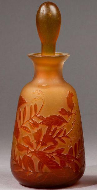 Emile Gallé - (1846-1904)  Flacon à parfum...