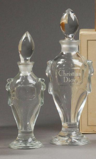 Christian Dior - (années 1950)  Deux flacons...