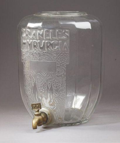 """Myrurgia - """"Graneles"""" - (années 1920)  Importante fontaine à parfum en verre incolore..."""