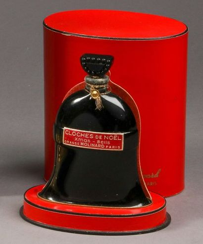 """Molinard - """"Cloches de Noël"""" - (années 1930)  Présenté dans son coffret ovale en..."""