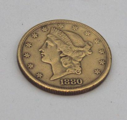 MONNAIE en or de 20 DOLLARS 1880