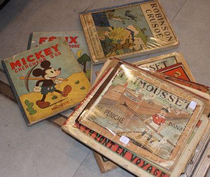 Ensemble de livres bandes dessinées anciennes...
