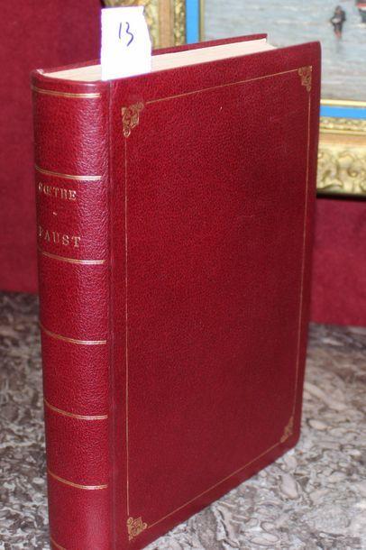 GOETHE Faust 1 volume 1880. Editeur QUEN...
