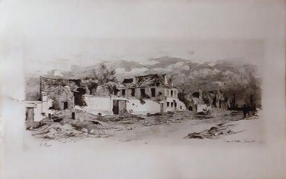 Auguste André LANÇON (1836-1887) Ensemble de 15 gravures sur la guerre de 1870 (taches...