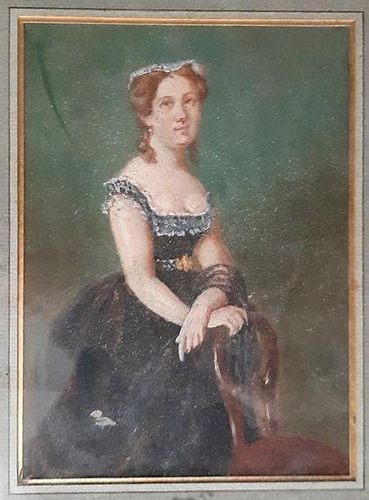 ECOLE FRANCAISE XIXeme SIECLE Portrait d'une...