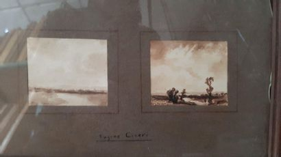 Eugène CICERI (1813-1890) Eugène CICERI (1813-1890) Landscape and character studies...