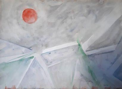 Beatus ZUMSTEIN (1927-1984) Composition au...
