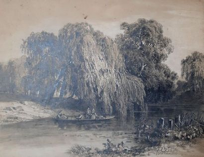 Rosine MICHEL (XIXe siècle) Rosine MICHEL (19th century) Landscapes Set of ten lead...