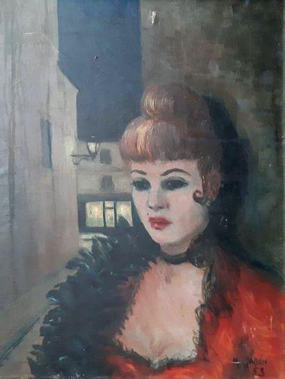 Richard GALLON (XXe siècle) Femme de petite...