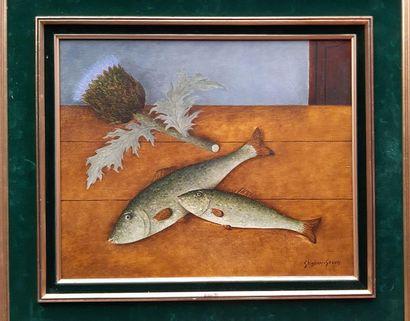 GHIGLION GREEN (1913-1989) Nature morte aux...