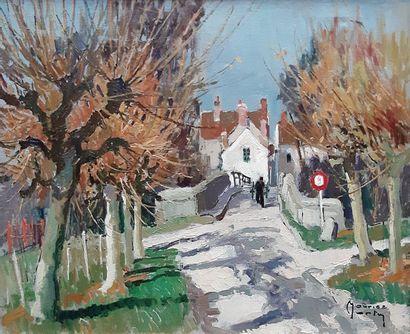 Maurice MARTIN (1894-1978) Maurice MARTIN (1894-1978) Entrée de village par le petit...