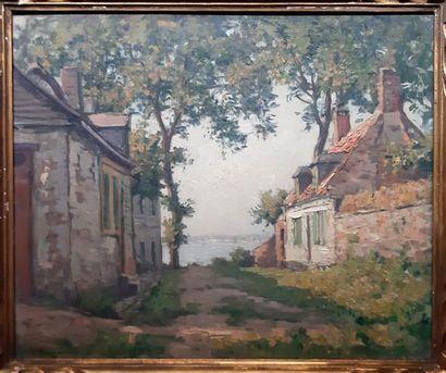 VICTOR BRUGAIROLLES (1869-1936) Victor BRUGAIROLLES (1869-1936) Alley leading to...