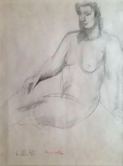 Fikret MOUALLA (1903-1967) ETUDE DE FEMME,...