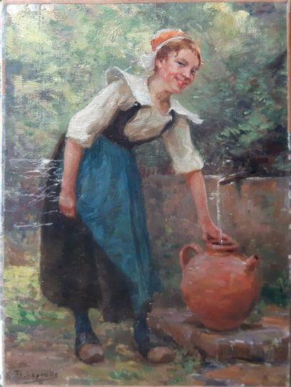 Louis-Théophile DEYROLLE (1844-1923) Louis-Théophile DEYROLLE (1844-1923) Jeune femme...
