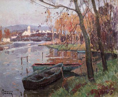 Maurice MARTIN (1894-1978) Maurice MARTIN (1894-1978)  Saint Mamet.  Huile sur toile...