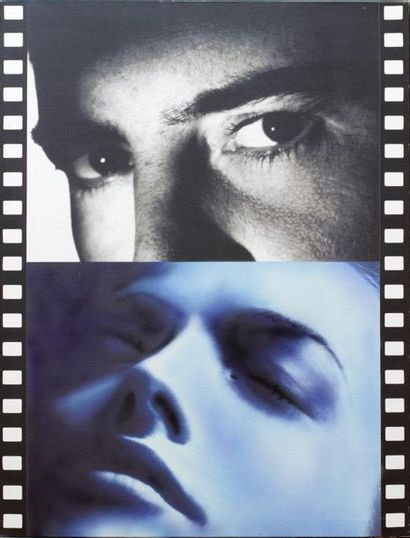 Peter KLASEN (1935)  Sequence n°7 Blue Dream, 2005  Mixed technique, silkscreen...