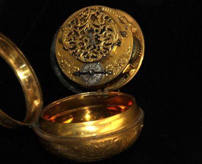 MONTRE à coq en métal doré de style oignon,...