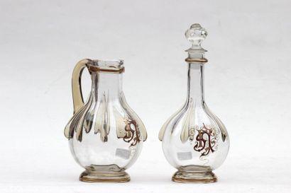EMILE GALLE (1846-1904) Industrie  Pichet...