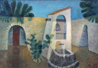 Louis TOFFOLI (1907-1999) Louis TOFFOLI (1907-1999) Auberge au Perou, circa 1985...