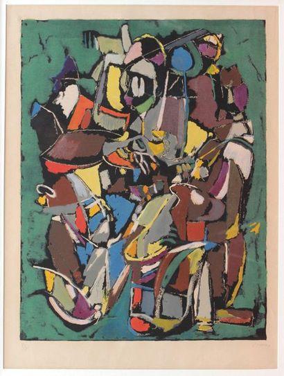 André LANSKOY (1902-1976) Composition sans...