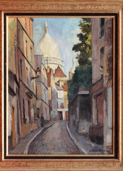César BRON né en 1895  Vieille rue à Montmartre...