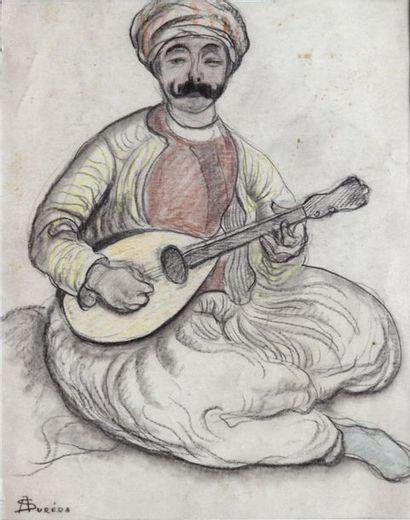 André SURÉDA (1872-1930)  Joueur de oud  Technique...