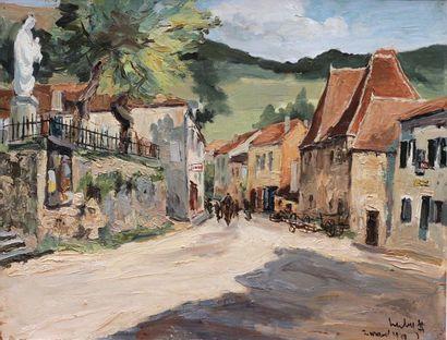Fernand HERBO (1905-1995) Fernand HERBO (1905-1995)  Rue de Village, 1940  Oil on...