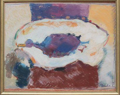 MARKO (1902-1986) MARKO (1902-1986) Nature-morte au canard Pastel signé en bas à...