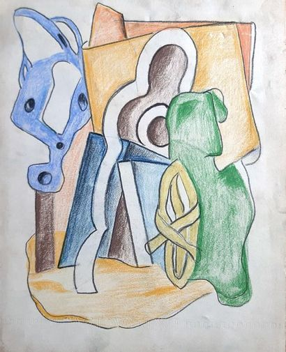 Simone HERMAN (1905-?)  attribué à Composition...