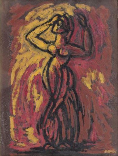 Robert HELMAN (1910-1990) Le modèle debout,...