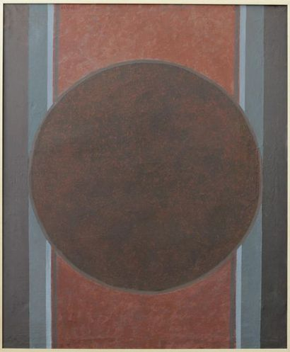 Constantin PAULET (1917-2004) Constantin PAULET (1917-2004)  Brown circle on red...
