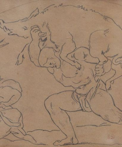 Atelier D'Eugène DELACROIX (1798-1863) Attribué à l'Atelier D'Eugène DELACROIX (1798-1863)...