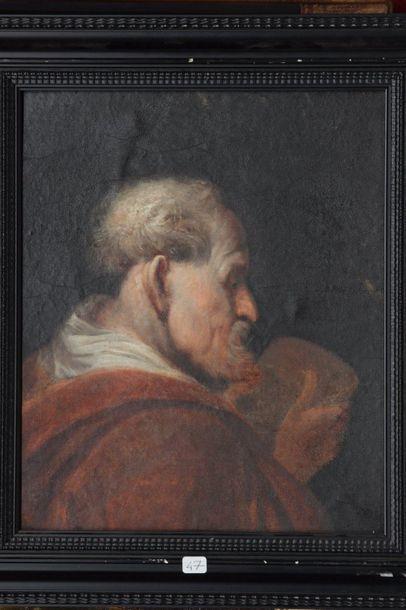 ECOLE FRANCAISE XVIII/ XIXe SIECLE Portrait...