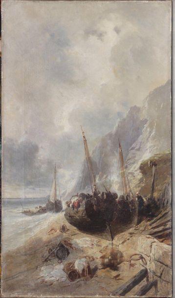 ÉCOLE FRANÇAISE, fin du XIXe siècle Voiliers...