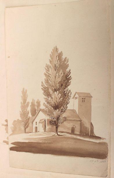 Rosine MICHEL (XIXe siècle) attribué à Rosine MICHEL (XIXe siècle) attribué à Paysages...