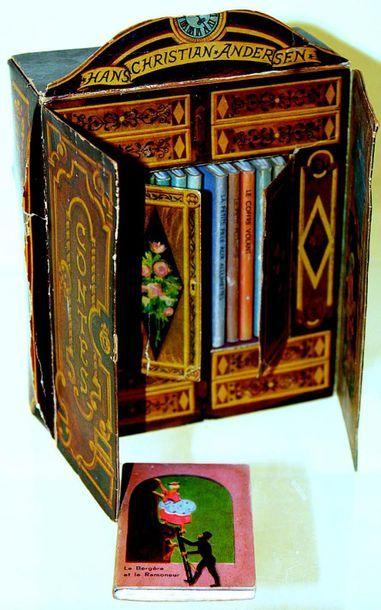 Charmante bibliothèque avec 10 livres miniatures...