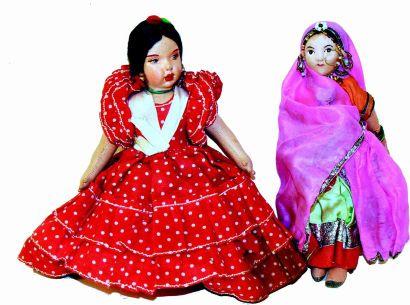 Une poupée à double face d'origine espagnole...