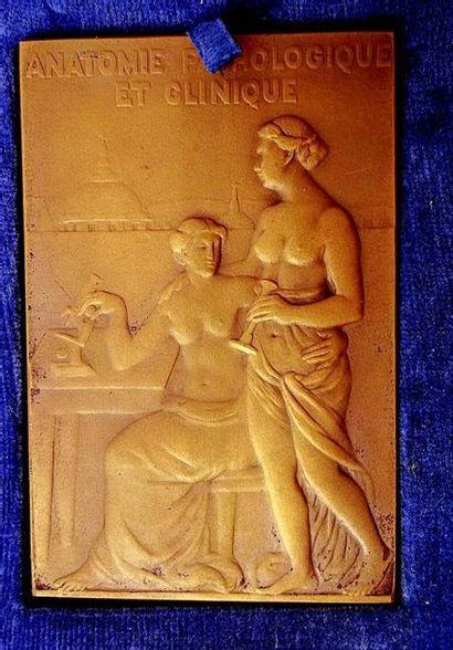-Rare et belle médaille en bronze signée...