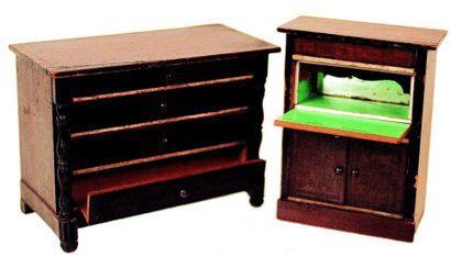 Deux meubles BIEDERMEYER, un secrétaire H...