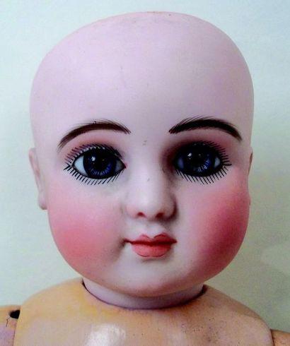 -Baby by Jules Nicolas STEINER,(1889) head in pressed biscuit, Mould SERIES C2,...