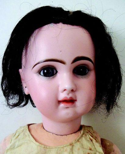 -Bébé JUMEAU, (1898) tête en biscuit coulé...