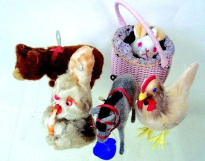 -Lot de 5 petits jouets mécaniques avec leur...