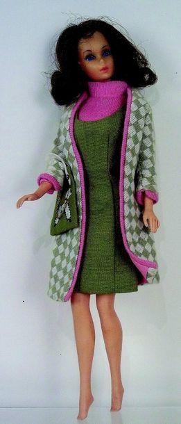 -«BARBIE» modèle «Twist & Turn»,(1969) brune,...