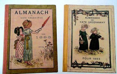 Deux almanachs de Kate Greenaway de 1886...