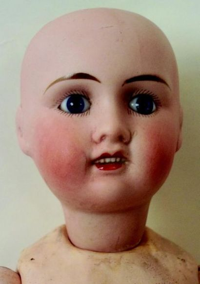 """-""""Petite Française"""",French made baby with J.V. cast biscuit head. (on both sides..."""
