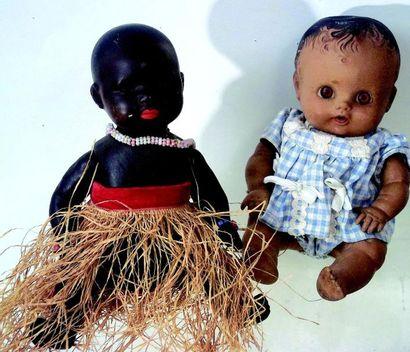 Petit Bébé noir en composition de fabrication...
